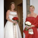 Bride and bridesmaid Leitrim