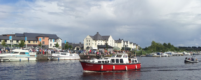 Cruising on the River Shannon in Ireland